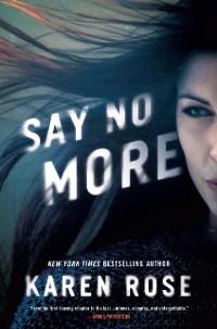 Cover Say No More