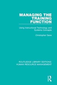 Cover Managing the Training Function