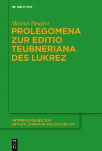 Cover Prolegomena zur Editio Teubneriana des Lukrez