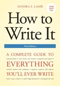 Cover How to Write It, Third Edition