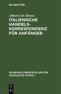 Cover Italienische Handelskorrespondenz für Anfänger