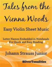 Cover Tales from the Vienna Woods Easy Violin Sheet Music