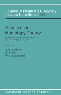 Cover Advances in Homotopy Theory