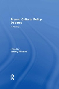 Cover French Cultural Policy Debates