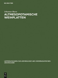 Cover Altmesopotamische Weihplatten
