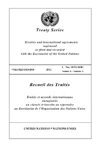 Cover Treaty Series 2815 - 2816 / Recueil des Traités 2815 - 2816