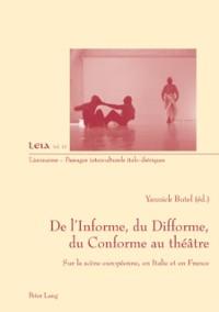 Cover De l'Informe, du Difforme, du Conforme au theatre