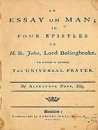 Cover An Essay on Man; in Four Epistles to H. St. John, Lord Bolingbroke