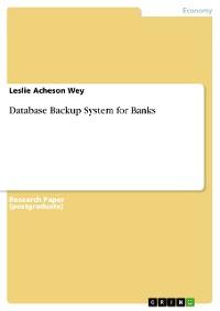 Cover Database Backup System for Banks