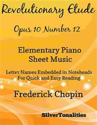 Cover Revolutionary Etude Opus 10 Number 12 Elementary Piano Sheet Music