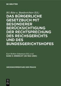 Cover Erbrecht [§§ 1922–2385]