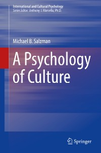 Cover A Psychology of Culture