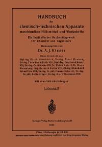 Cover Handbuch der chemisch-technischen Apparate maschinellen Hilfsmittel und Werkstoffe