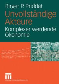 Cover Unvollständige Akteure