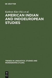 Cover American Indian and Indoeuropean Studies