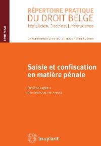 Cover Saisie et confiscation en matière pénale