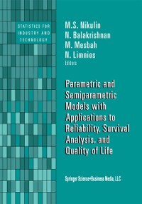 Cover Parametric and Semiparametric Models with Applications to Reliability, Survival Analysis, and Quality of Life