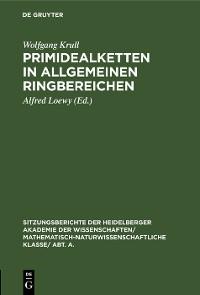 Cover Primidealketten in allgemeinen Ringbereichen