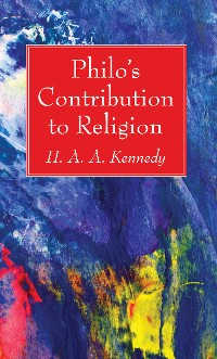 Cover Philo's Contribution to Religion