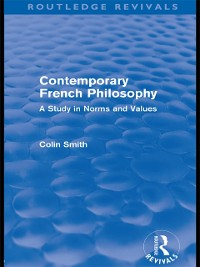 Cover Contemporary French Philosophy (Routledge Revivals)
