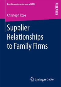 Cover Supplier Relationships to Family Firms