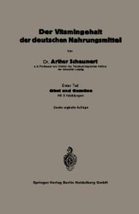 Cover Der Vitamingehalt der deutschen Nahrungsmittel
