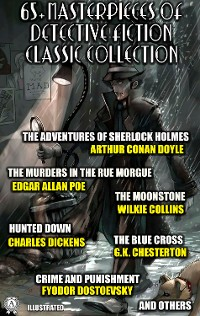 Cover 65+ Masterpieces of Detective Fiction Classic Collection. Illustrated