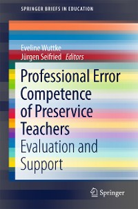 Cover Professional Error Competence of Preservice Teachers