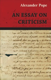 Cover Essay on Criticism