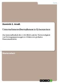 Cover Unternehmensübernahmen in Krisenzeiten