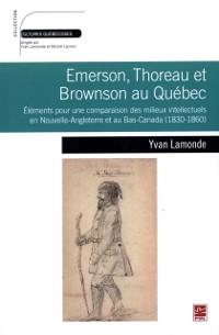 Cover Emerson, Thoreau et Browson au Quebec