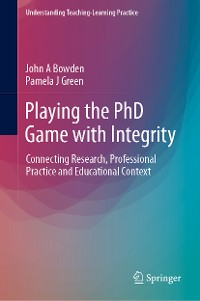 Cover Playing the PhD Game with Integrity