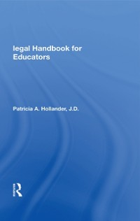 Cover Legal Handbook For Educators