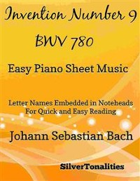 Cover Invention Number 9 BWV 780 Easy Piano Sheet Music