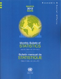 Cover Monthly Bulletin of Statistics, March 2012