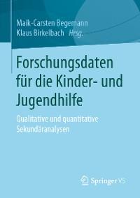 Cover Forschungsdaten für die Kinder- und Jugendhilfe