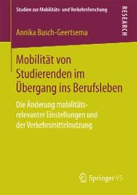 Cover Mobilität von Studierenden im Übergang ins Berufsleben