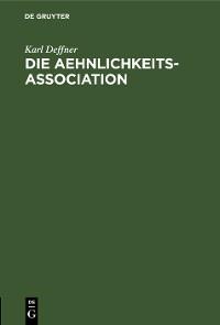Cover Die Aehnlichkeits-Association