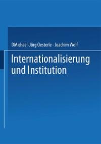 Cover Internationalisierung und Institution