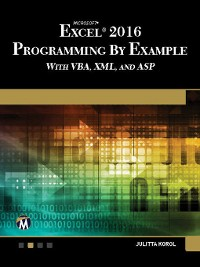 Cover Microsoft Excel 2016 Programming by Example