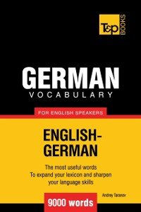Cover German Vocabulary for English Speakers: 9000 Words