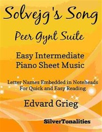 Cover Solvejg's Song Peer Gynt Suite Easy Intermediate Piano Sheet Music