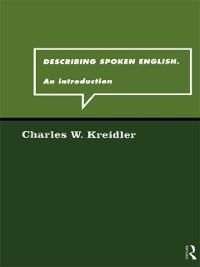 Cover Describing Spoken English