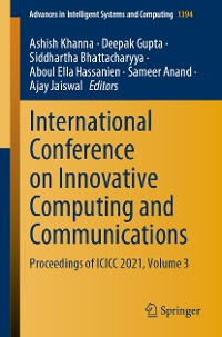 Cover International Conference on Innovative Computing and Communications