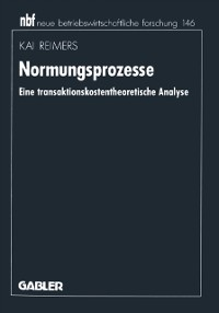 Cover Normungsprozesse