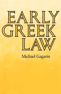 Cover Early Greek Law