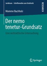 Cover Der nemo tenetur-Grundsatz