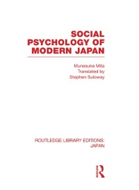 Cover Social Psychology of Modern Japan