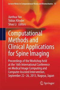 Cover Computational Methods and Clinical Applications for Spine Imaging