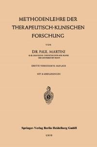 Cover Methodenlehre der therapeutisch-klinischen Forschung